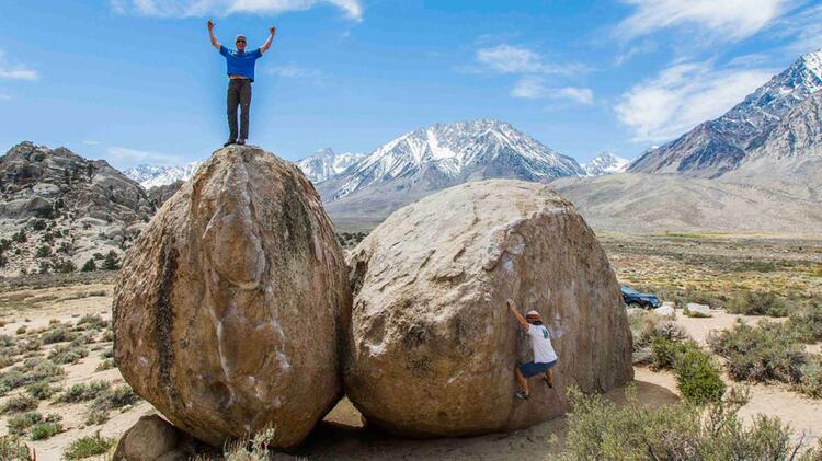 Bergfuehrer Christoph Hummel In Amerika Beim Klettern
