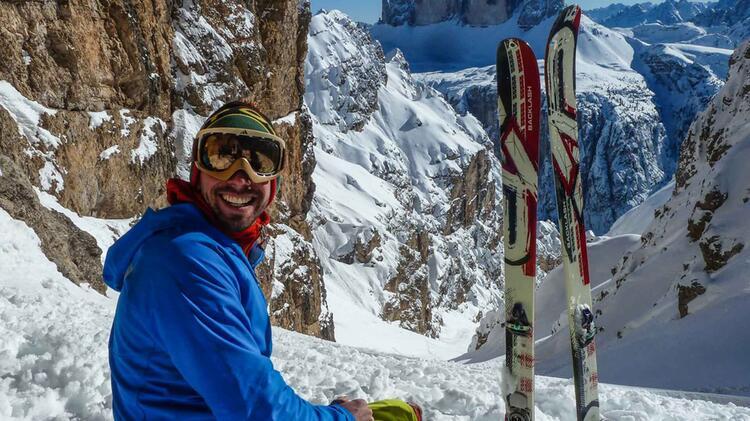 Bergfuehrer Christoph Soratroi Auf Skitour In Den Dolomiten