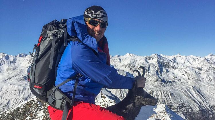 Bergfuehrer Florian Schmidt Auf Skitour In Der Silvretta