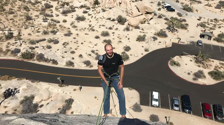Bergfuehrer Manuel Haff Beim Kletterkurs Am Gardasee