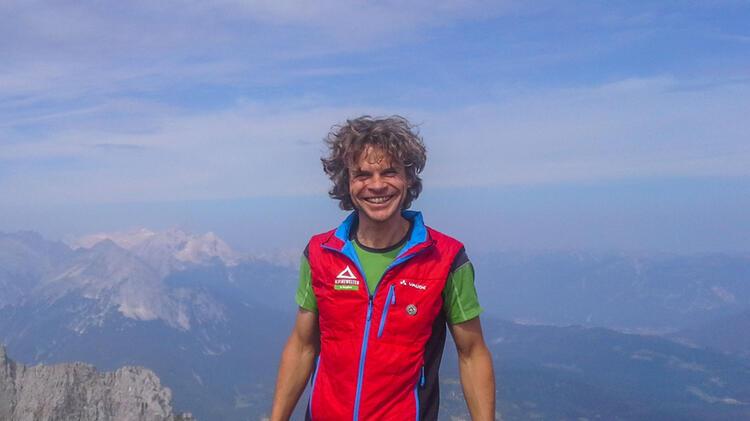 Bergfuehrer Michael Hornsteiner Im Hoellental Klettersteig Auf Die Zugspitze