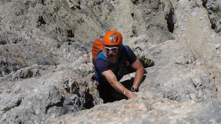 Bergfuehrer Moritz Filger An Der Watzmann Ostwand