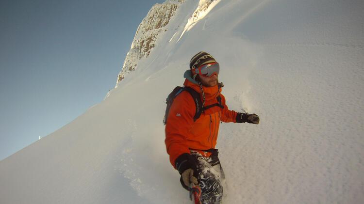 Bergfuehrer Moritz Filger Auf Skitour In Der Silvretta