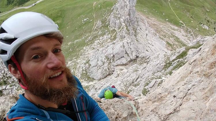 Bergfuehrer Moritz Filger Beim Klettern