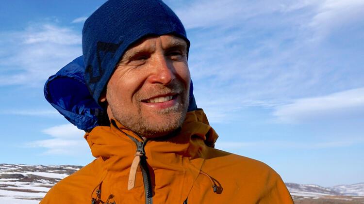 Bergfuehrer Olov Beim Wandern In Norwegen