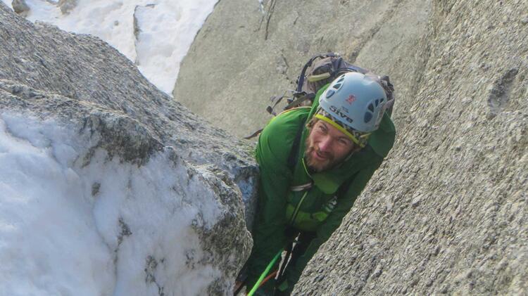 Bergfuehrer Philipp Stromereder Beim Klettern Am Mont Blanc