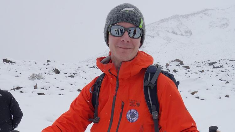 Bergfuehrer Thomas Auf Skitour Im Vinschgau