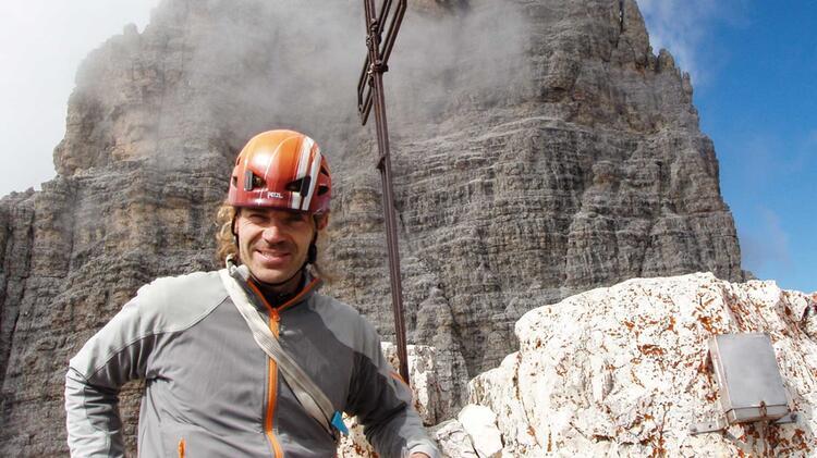 Bergfuehrer Thomas Exner Am Kletterkurs Alpin