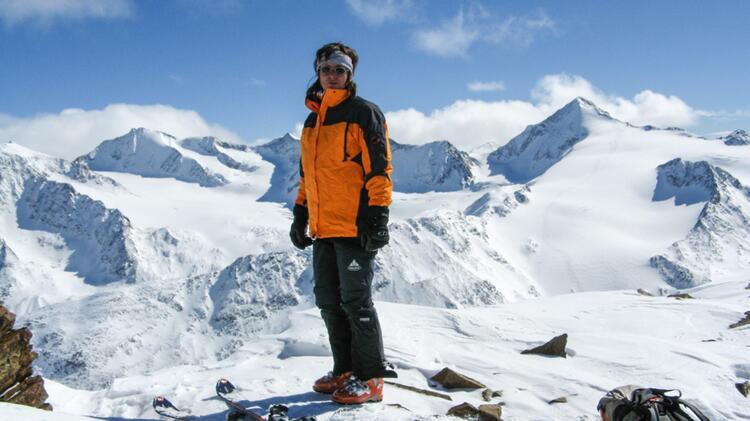 Bergwander Fuehrerin Angelika Neubauer Auf Skitour