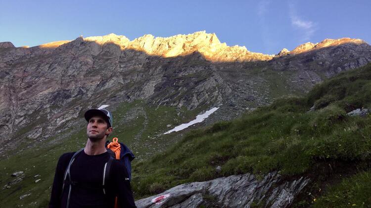 Bergwanderfuehrer Benjamin Gruber Beim Bergwandern Vom Kitzsteinhorn Zum Grossglockner 1