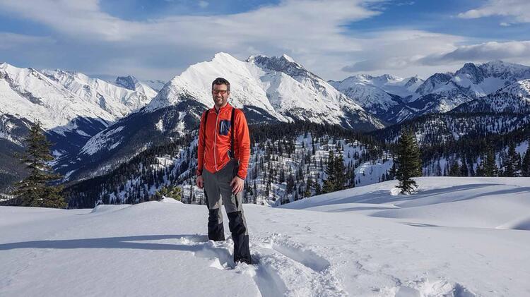 Bergwanderfuehrer Michael Lichtenstern An Der Zugspitze