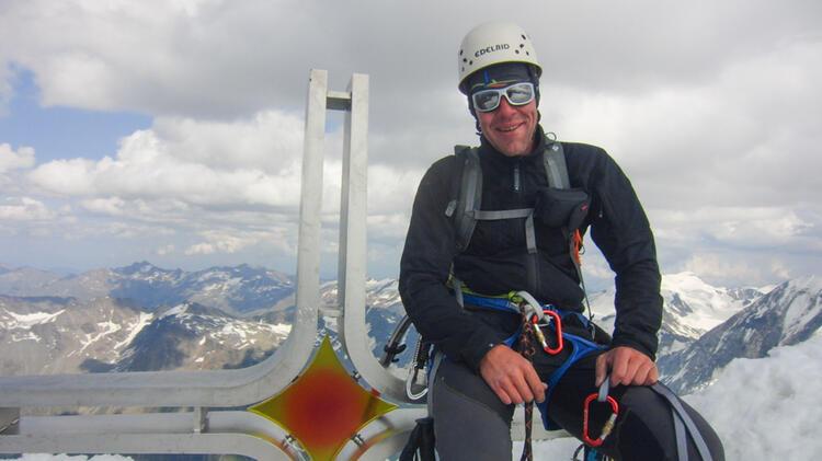 Bergwanderfuehrer Michael Willer Auf Bergtour