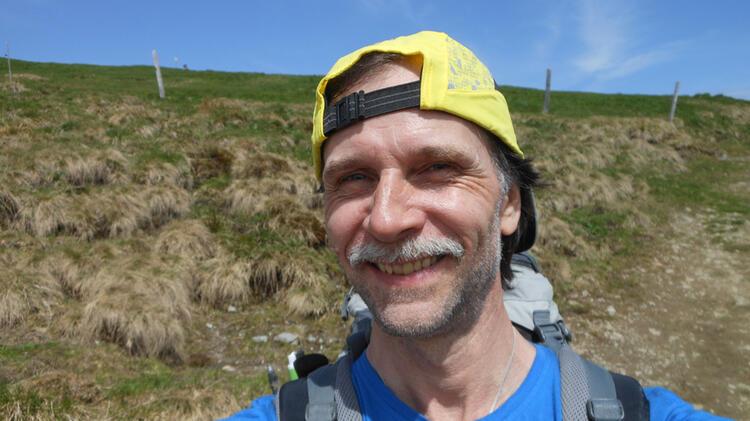 Bergwanderfuehrer Schill Beim Bergwandern Im Allgaeu