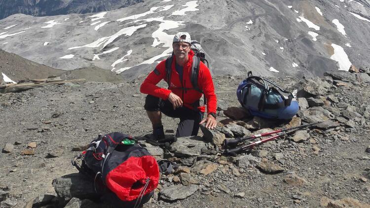 Bergwanderfuehrer Thomas Schill Auf Der Alpenueberquerung E5
