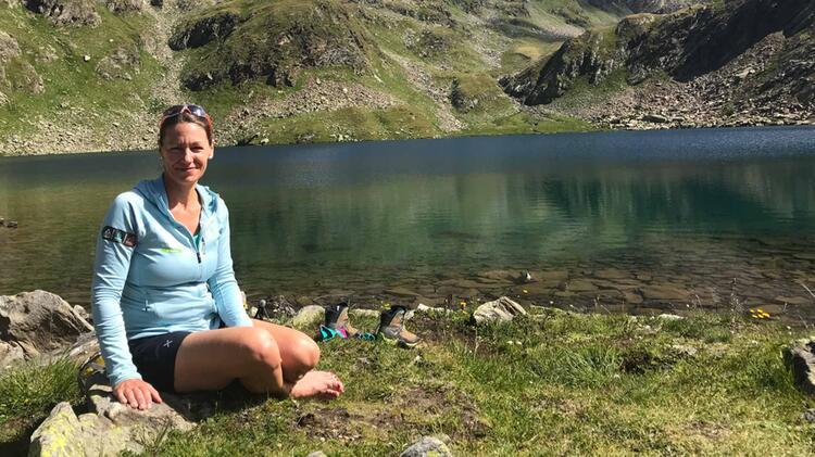 Bergwanderfuehrerin Walch Beim Bergwandern Im Nationalpark Berchtesgaden