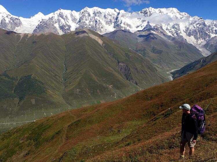 Blick Auf Das Hochgebirge In Swanetien