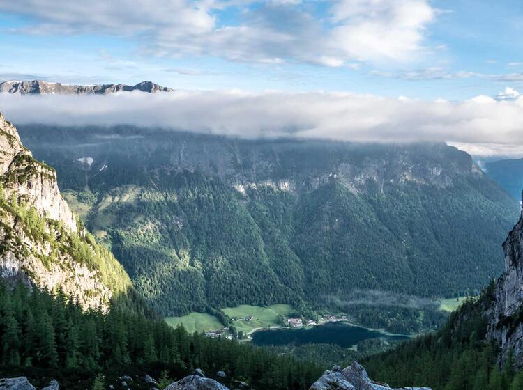 Blick Auf Den Hintersee Von Der Blaueishuette