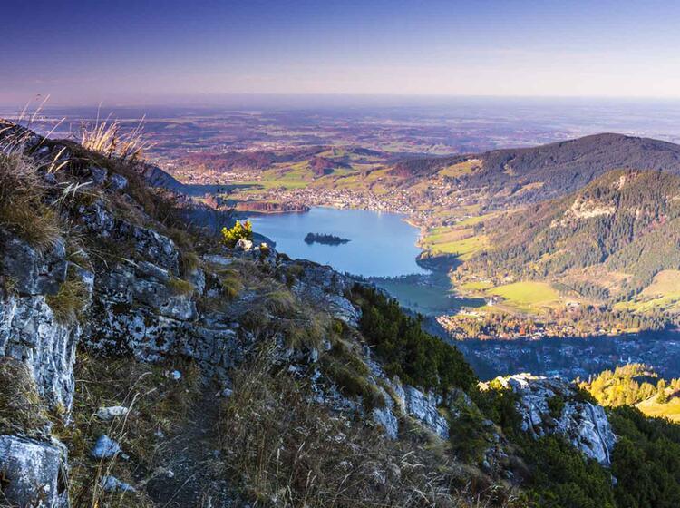 Blick Auf Den Schliersee Auf Der Drei Seen Tour Huettenwanderung