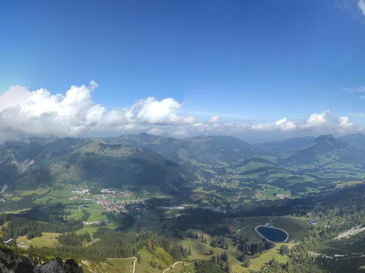 Blick Aus Dem Gefuehrten Iseler Klettersteig