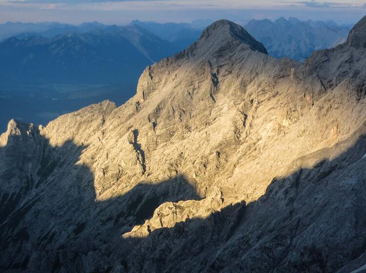 Blick Aus Der Zugspitze Nordwand Route Eisenzeit
