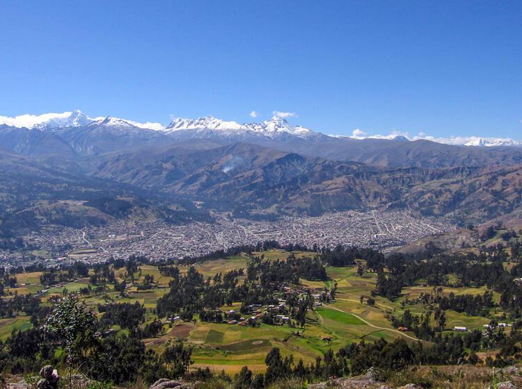 Blick Nach Huaraz Auf Der Akklimatisationstour