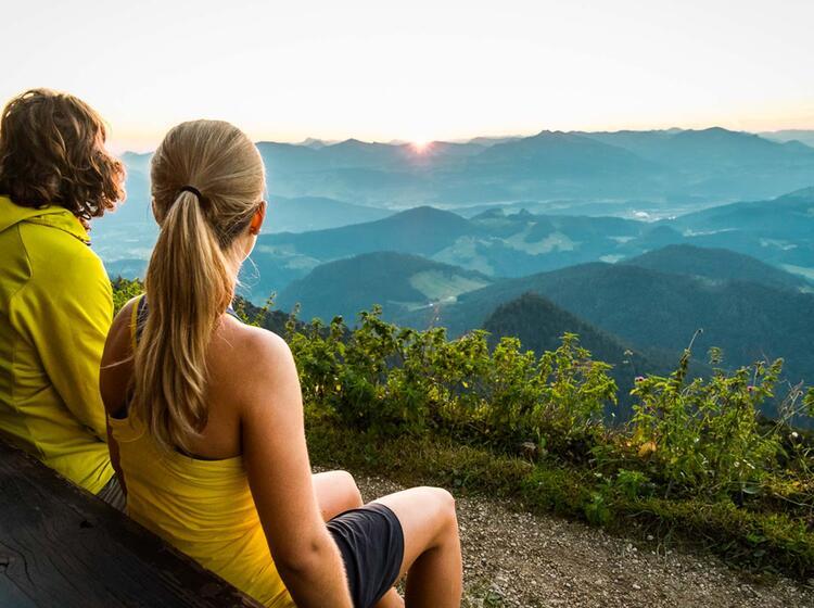 Blick Vom Scheibenkaser Am Untersberg Klettersteig
