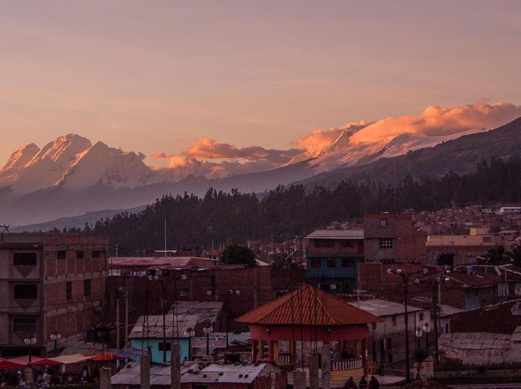 Blick Zum Huascaran Auf Der Expedition