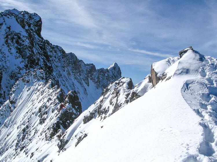 Blick Zum Piz Bernina Auf Dem Biancograt