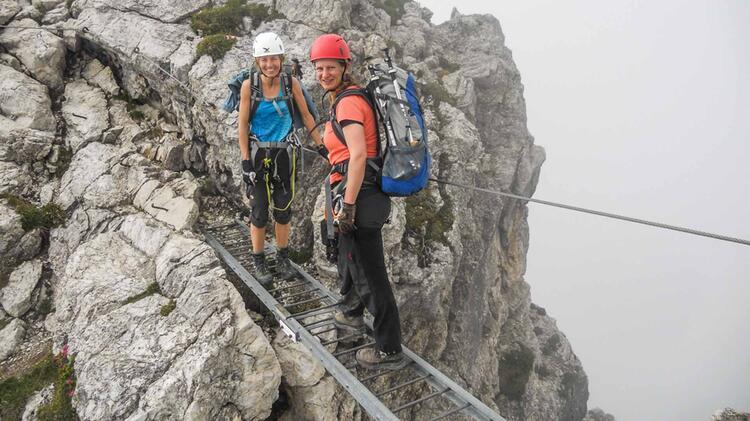 Klettersteig Salewa : Ostrachtaler und iseler klettersteig tagestour