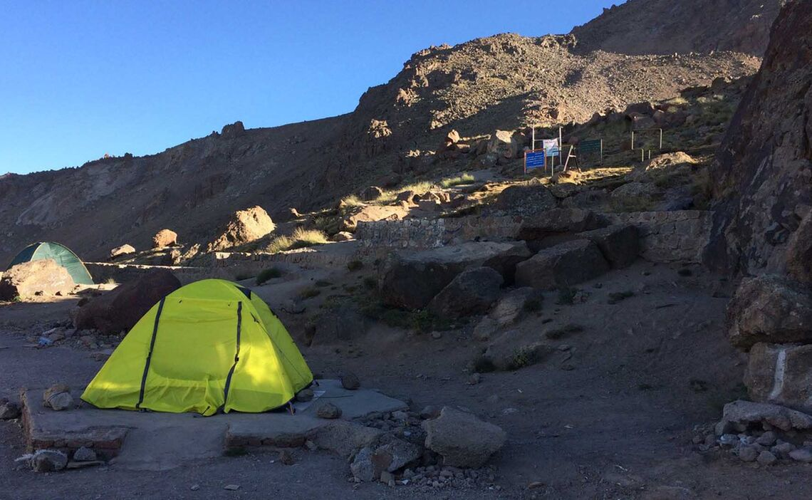 Campsite Trekking Iran