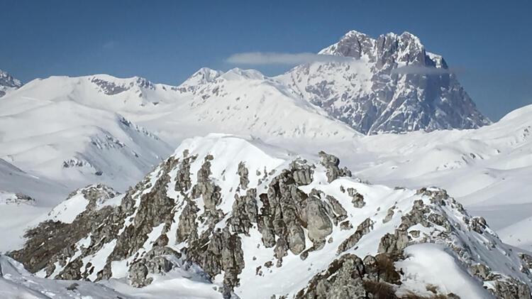 Corno Grande Skitouren Abruzzen