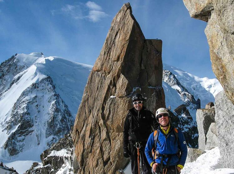 Cosmique Grat In Chamonix Am Mont Blanc