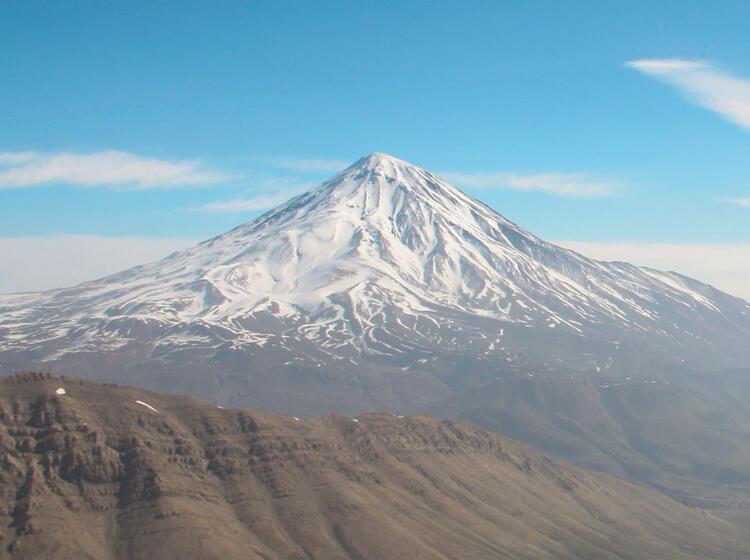Damavand Besteigung Mit Ski Im Iran