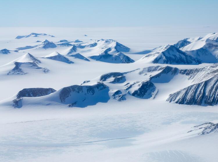 Das Ellsworth Gebirge In Der Antarktis