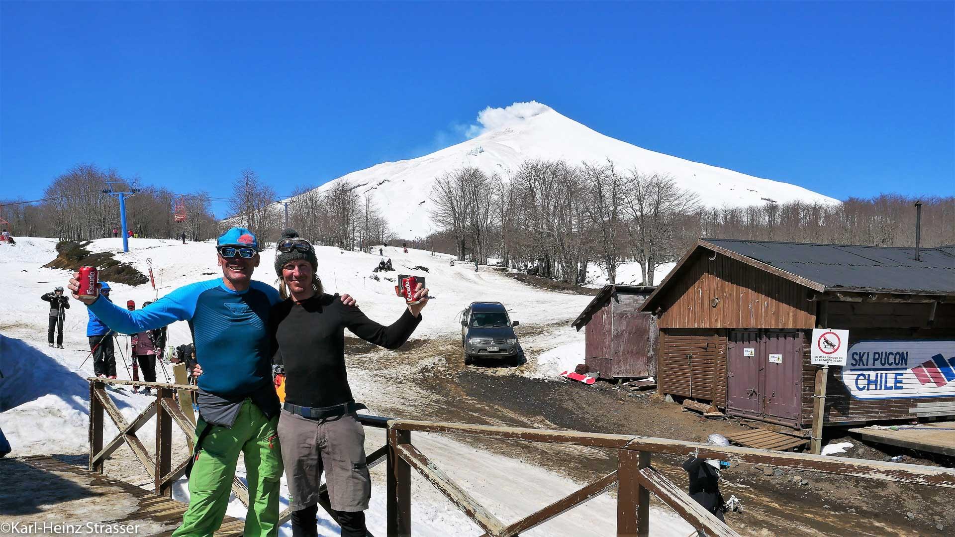 Bergführer und Gast in Chile