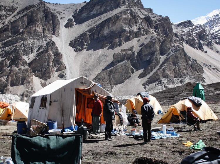 Das Ku Chenzelt Im Basislager