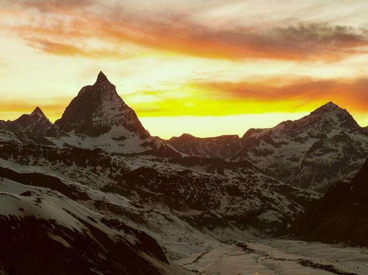 Das Matterhorn Im Sonnenuntergang