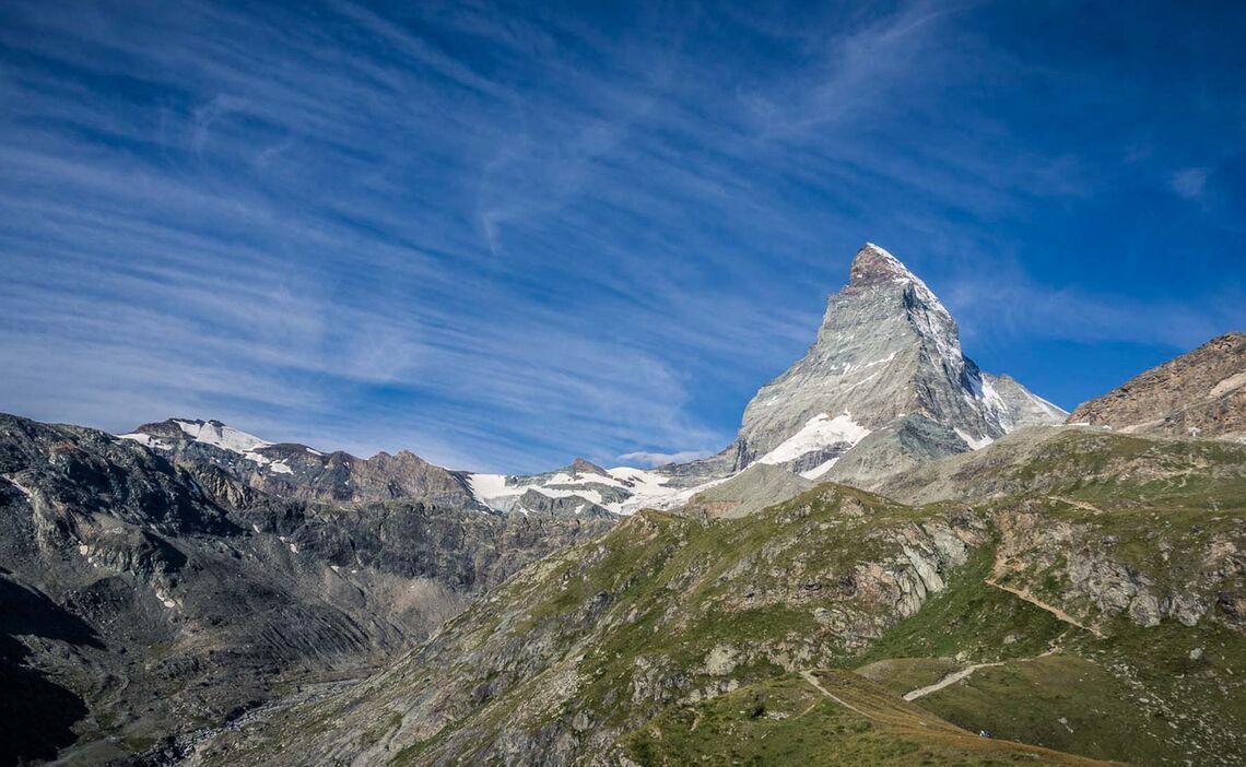 Das Matterhorn Wahrzeichen Von Zermatt