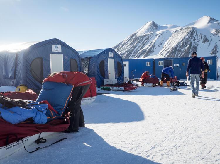 Das Union Glacier Camp In Der Antarktis