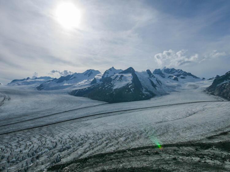 Der Aletsch Gletscher Ist Welt Kulturerbe