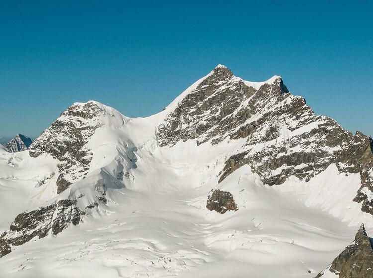 Der Aletsch Gletscher Und Die Jungfrau Vom Jungfraujoch Gesehen