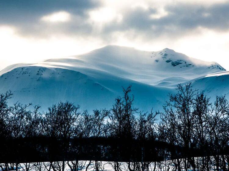 Der Fastdalstinden In Lyngen Auf Der Skitourenreise
