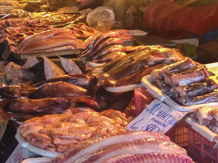Der Fischmarkt In Petropavlovsk