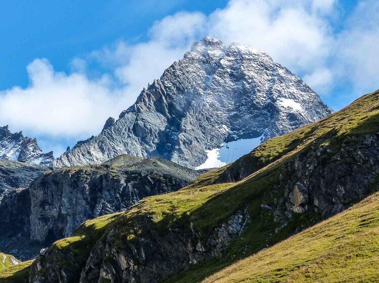 Der Grossglockner Gipfel Auf Der Wanderung Glocknerrunde