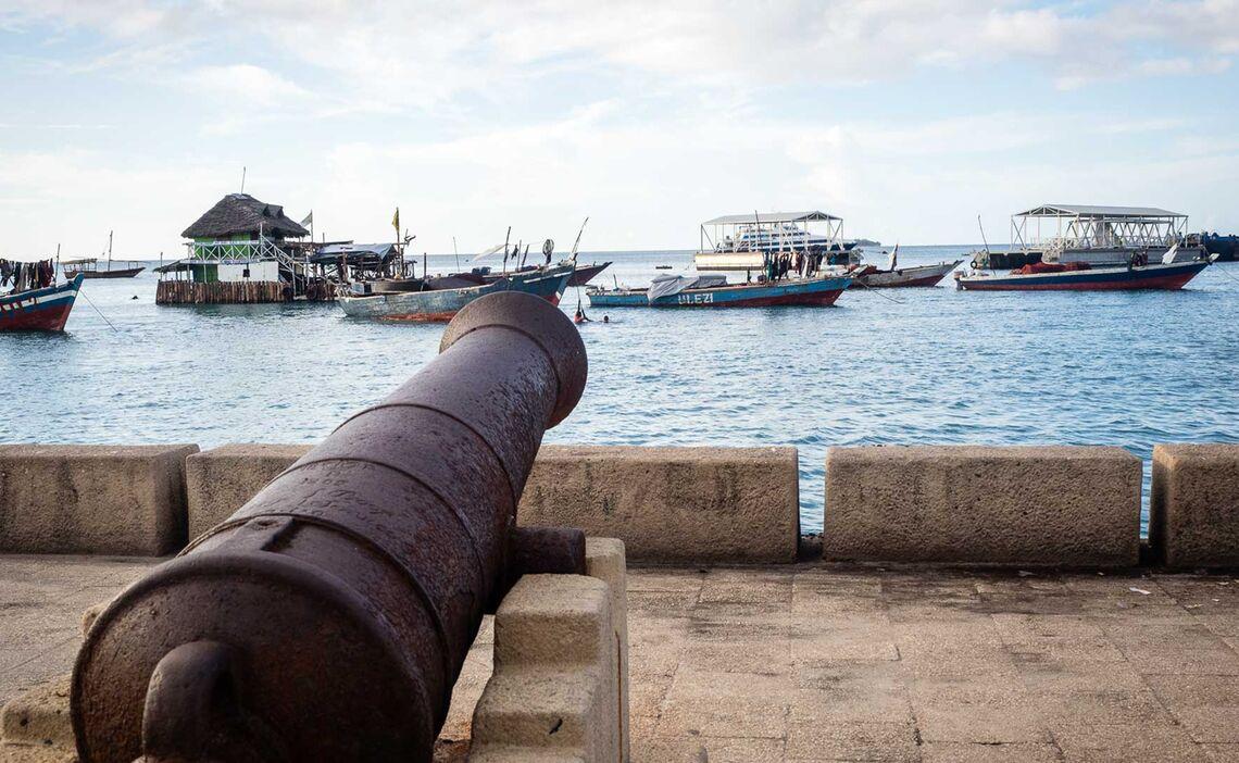Der Hafen Auf Zanzibar