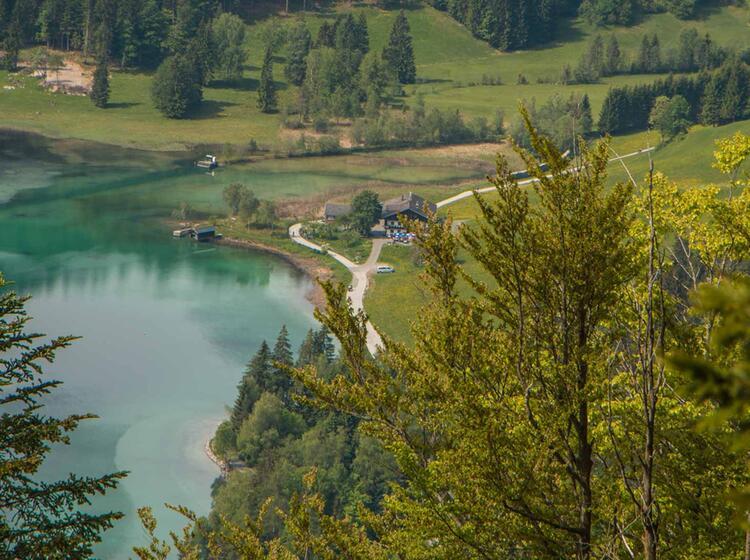 Der Hintersteiner See Im Wilden Kaiser Auf Der Wanderung Kaiserkrone