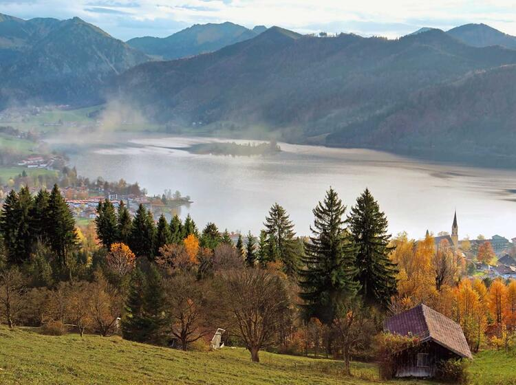 Der Schliersee Auf Der Bergwanderung Drei Seen Tour