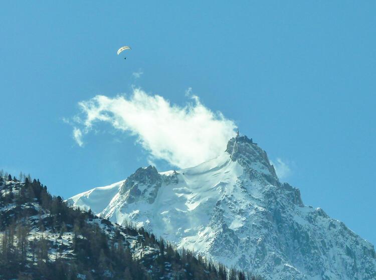 Die Aguille Du Midi Auf Der Tour Du Mont Blanc