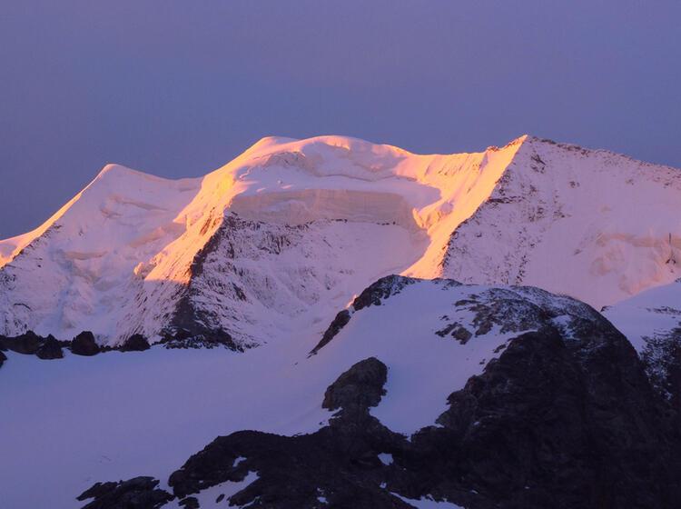Die Drei Pfeiler Des Piz Palu In Der Bernina