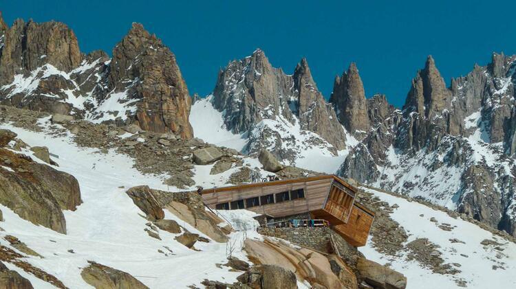 Die Erste U Bernachtung Auf Der Haute Route In Der Argentiere Hu Tte